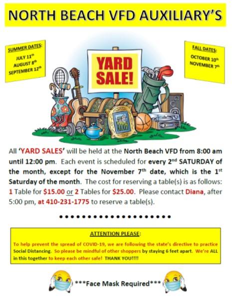 2020 NBVFD yard sales